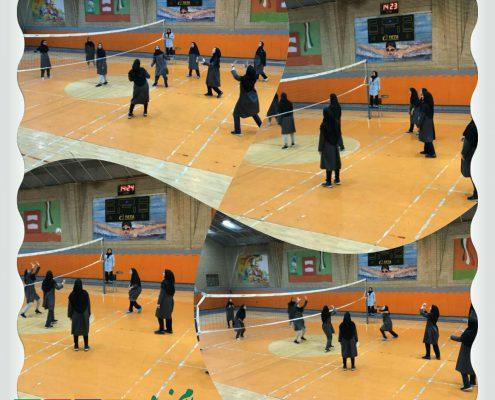 مسابقه والیبال - دبیرستان سلام فرمانیه (۴)
