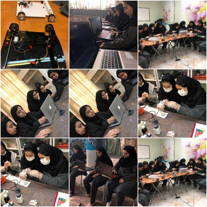 برگزاری کلاس های پژوهش - دبیرستان سلام فرمانیه
