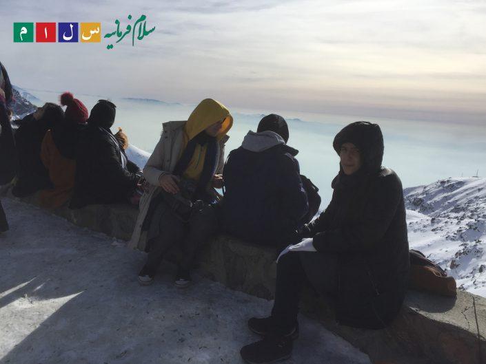 تله کابین توچال دبیرستان سلام فرمانیه